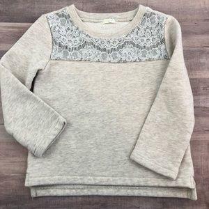 Size 3 CREWCUTS lace sweatshirt
